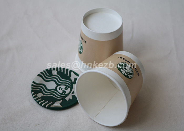 Starbucks Logo Printed Cold Drink Paper Cups , Disposable Cold Cups With Lids