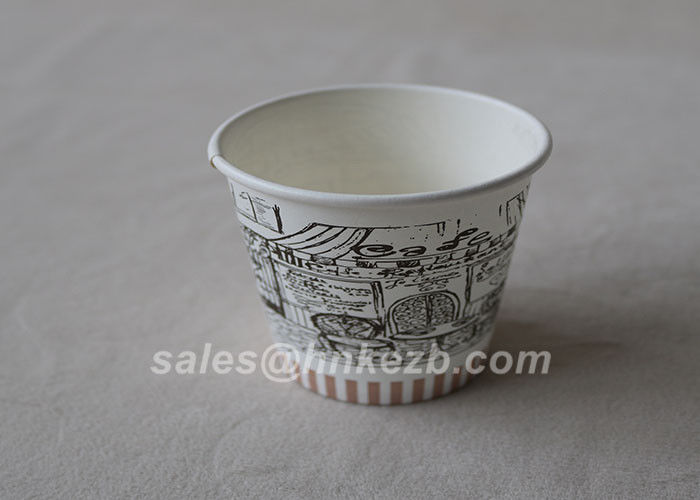 Non - Toxic Custom Printed Paper Coffee Cups 7oz High Temperature Performance