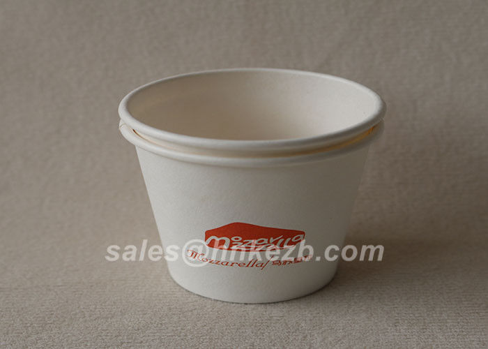Eco - friendly Wooden Pulp Hot Drink 8oz Paper Cup With Flexo Printing
