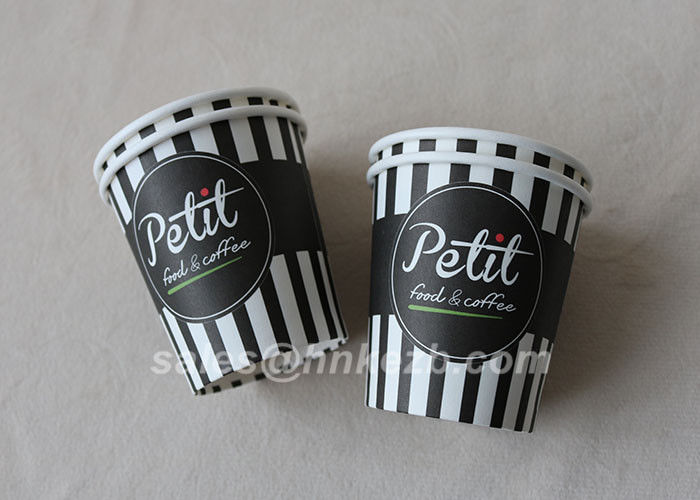 Glossy Lamination Disposable Single Wall Paper Cups 7oz for tea , ice cream