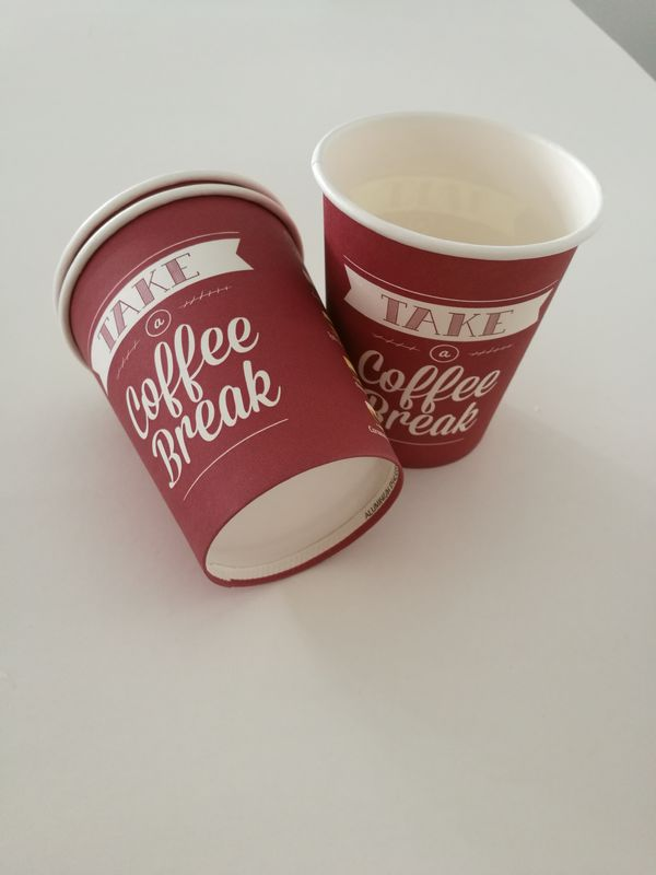 Single Wall Paper Cup for Coffee Tea Hot Drinks Custom Disposable Coffee Cups